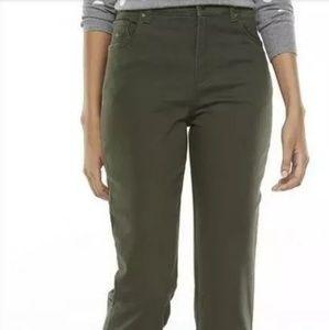 Gloria Vanderbilt 18W olive green stretch jeans